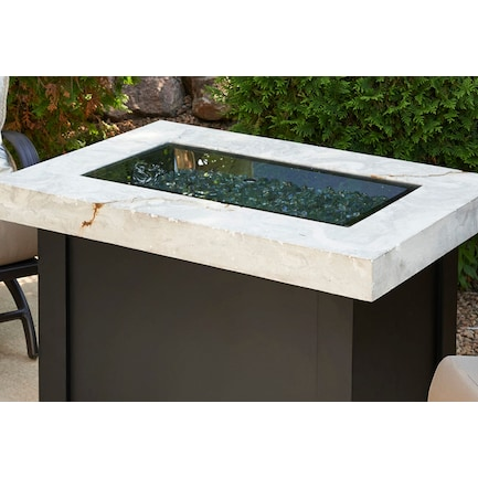 Rectangular 12 x 24 Tempered Glass Fire Pit Burner Cover Only
