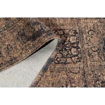 flat woven dark brown area rug ' x '