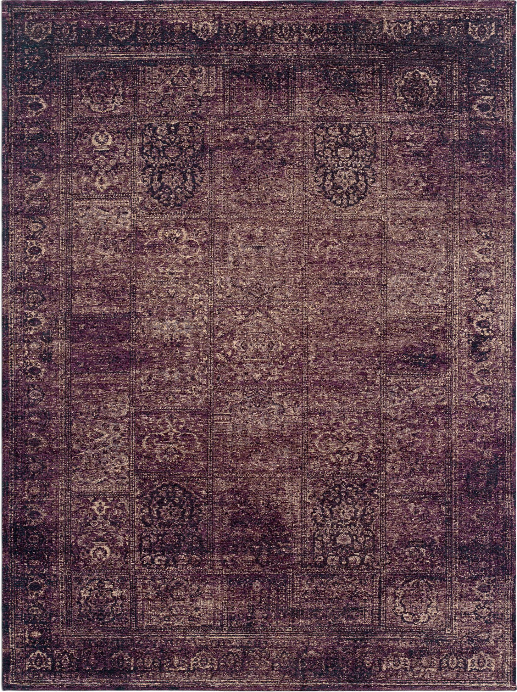 Rugs - Flat Woven Area Rug - Purple