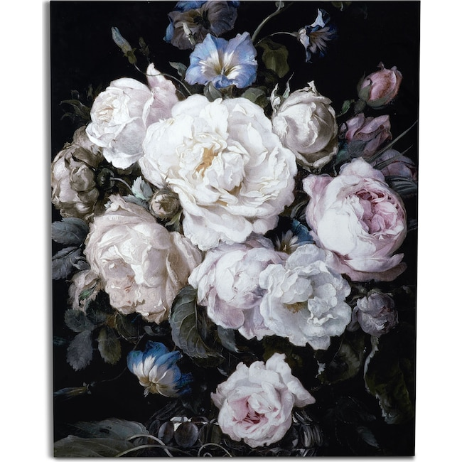 Home Accessories - Floral on Glass Wall Art
