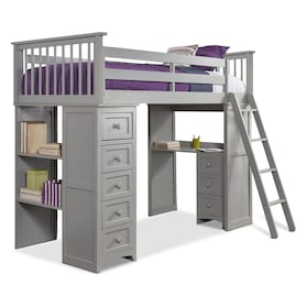 Flynn Loft Bed with Desk and Chest