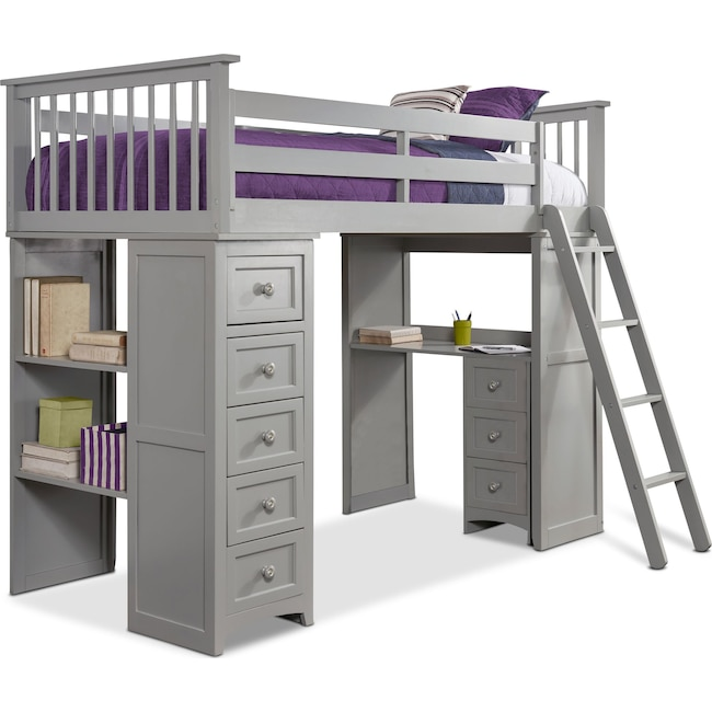 Kids Furniture - Flynn Loft Bed with Desk and Chest