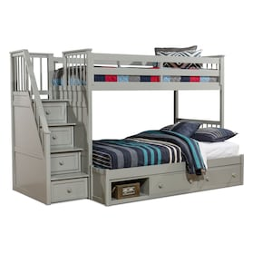 Flynn Storage Bunk Bed with Storage Stairs