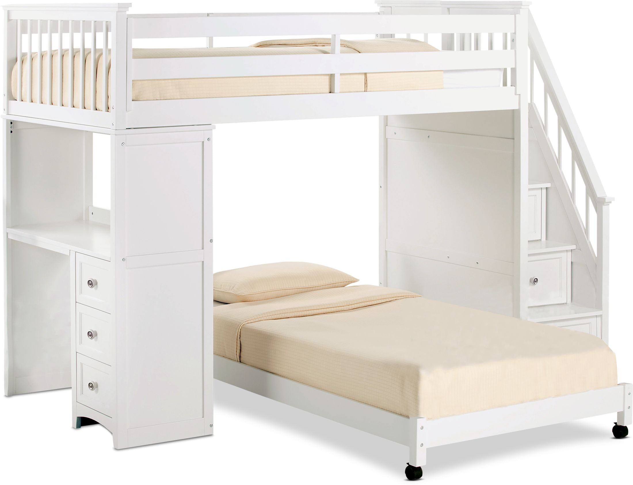 A Bunk Bed With A Desk Cheaper Than Retail Price Buy Clothing Accessories And Lifestyle Products For Women Men