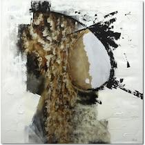 free flow white black gold wall art