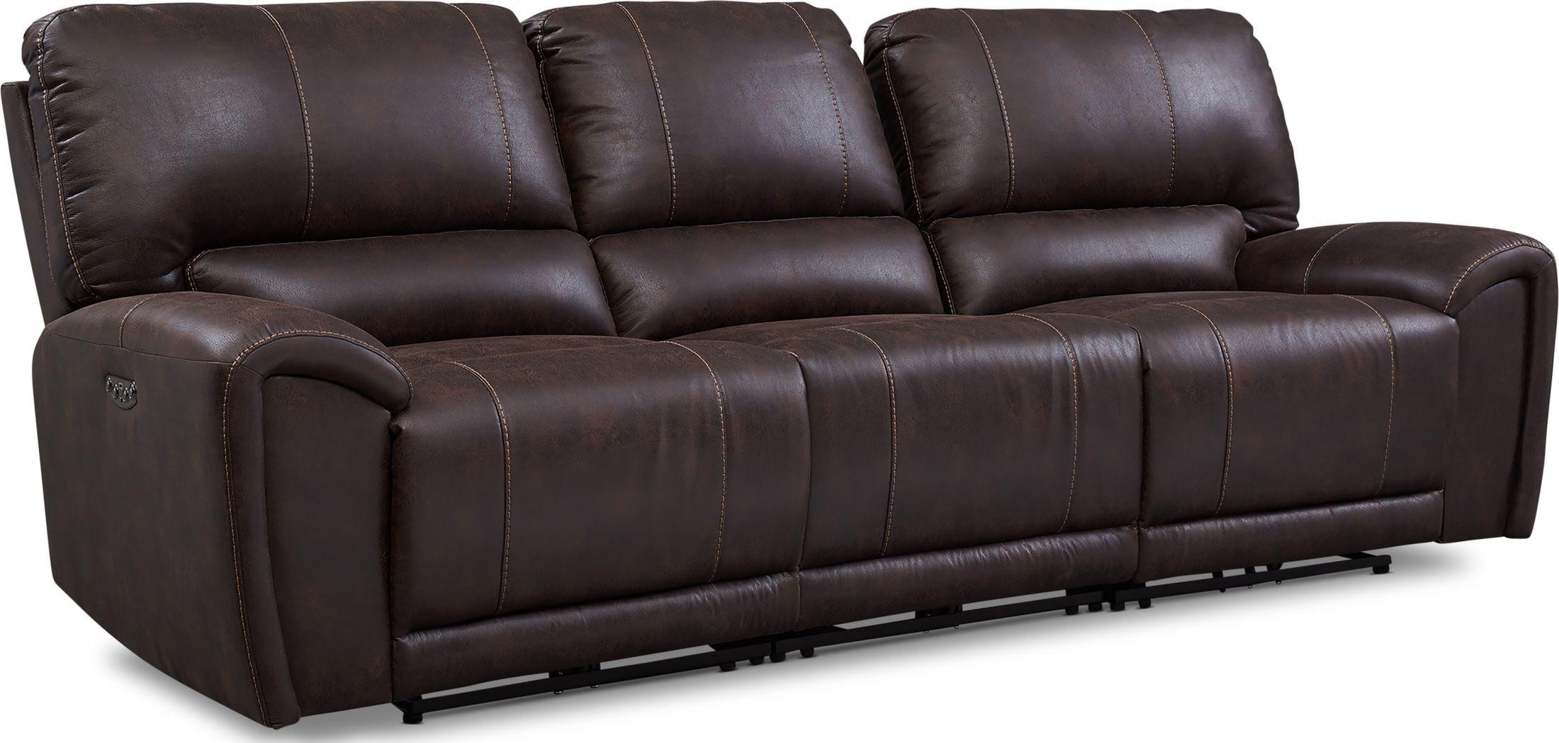 Living Room Furniture - Gallant 3-Piece Dual-Power Reclining Sofa