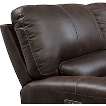 gallant dark brown  pc power reclining sectional