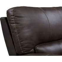 gallant dark brown  pc reclining sectional
