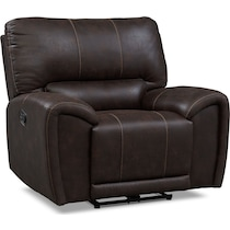 gallant dark brown manual recliner