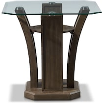 gemini occasional gray end table