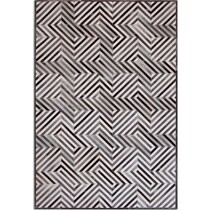 geo hide gray area rug ' x '