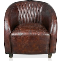 gilbert dark brown accent chair