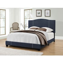 gina blue queen upholstered bed