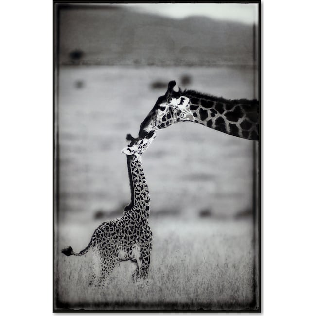 Home Accessories - Giraffe Mother and Baby Wall Art