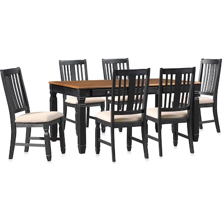 Glendale Dining Table and 6 Chairs - Black