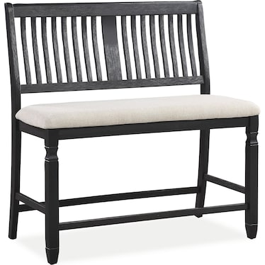 Glendale Counter-Height Bench - Black