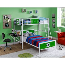 goalkeeper white loft bed