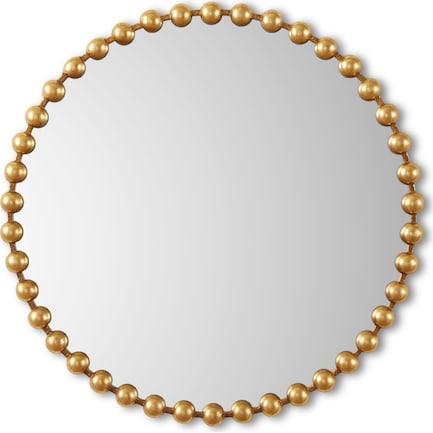 Gold Button Wall Mirror