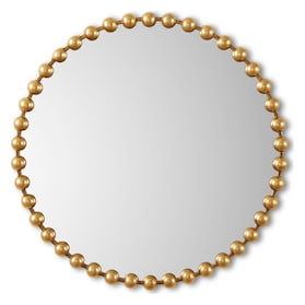 Gold Button Wall Mirror