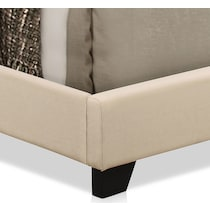 grace white queen upholstered bed