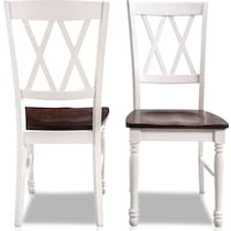 gracie white dining chair