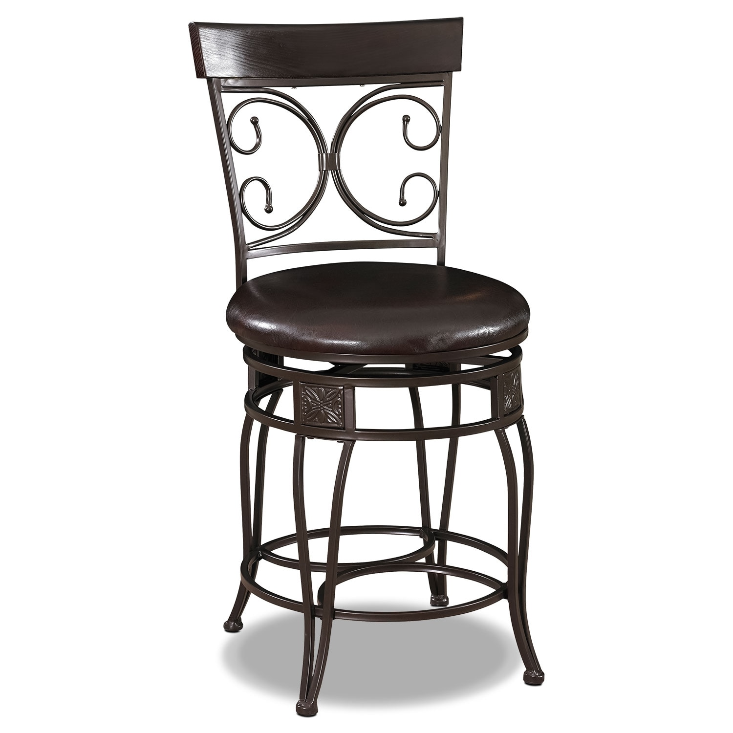Accent and Occasional Furniture - Grandview Counter-Height Stool - Brown