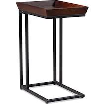 grant dark brown chairside table