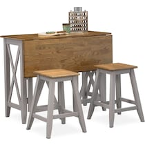 gray  pc counter height dining room