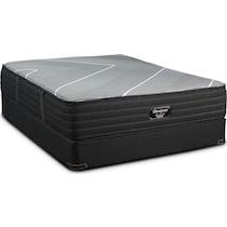gray king mattress split low profile foundation set