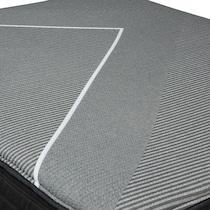 gray twin xl mattress low profile foundation set