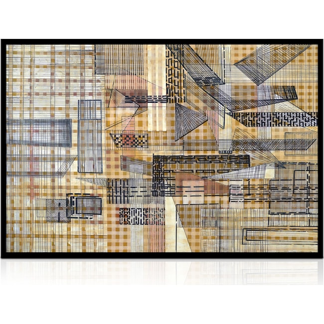 Home Accessories - Gridwork Wall Art