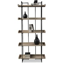 gwen light brown bookcase