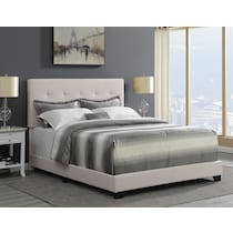 hadley white queen upholstered bed