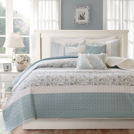 Hali Full/Queen Reversible Coverlet Set