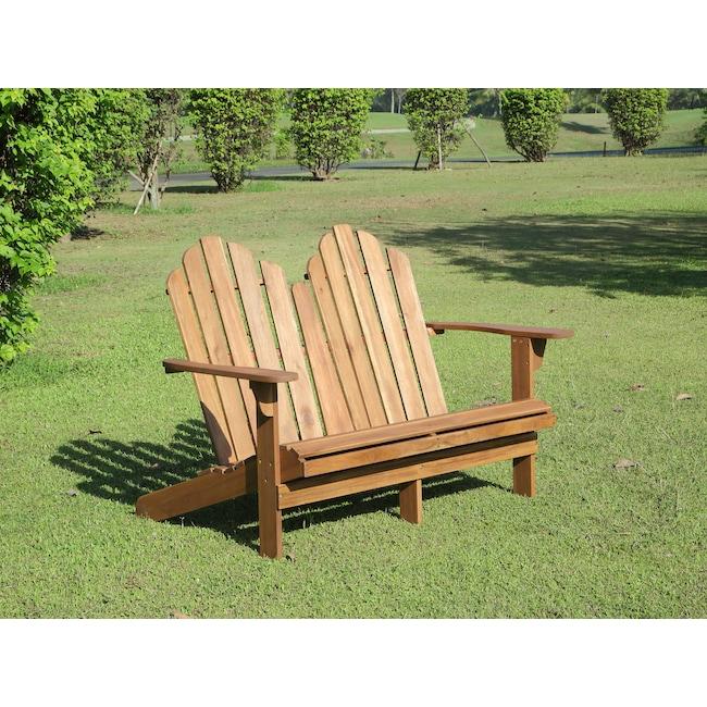 Outdoor Furniture - Hampton Beach Outdoor Adirondack Bench - Teak