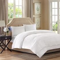 hampton white full queen bedding set
