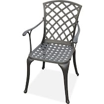 hana outdoor dining black outdoor chair