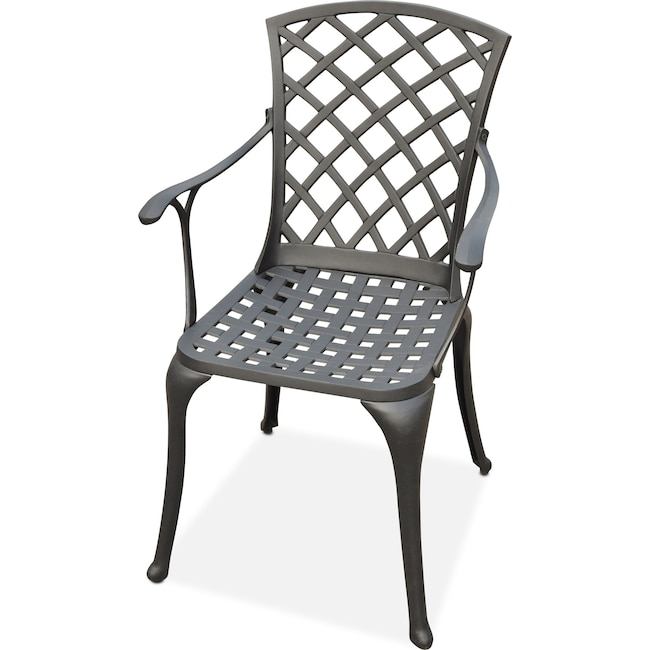 Outdoor Furniture - Hana Outdoor High-Back Arm Chair