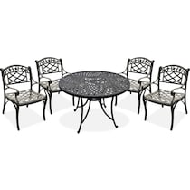 hana outdoor dining black outdoor dinette