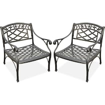 hana outdoor black outdoor chair set