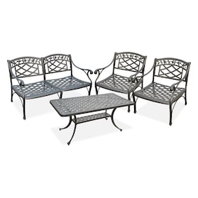 Hana Outdoor Loveseat, 2 Chairs and Coffee Table Set