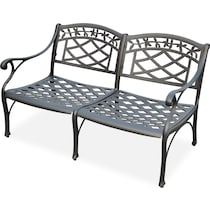 hana outdoor black outdoor loveseat