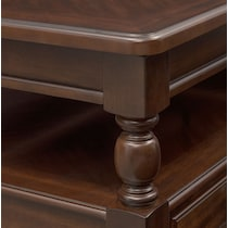 hanover occasional dark brown lift top coffee table