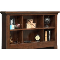 hanover youth cherry bookcase dark brown full bookcase bed