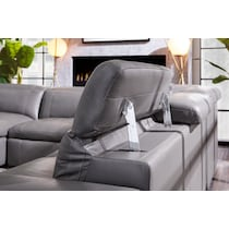 happy gray  pc power reclining sectional