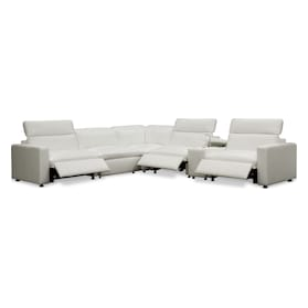 Happy 6-Piece Dual-Power Reclining Sectional with 3 Reclining Seats