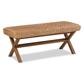 Harbor Wicker Bench