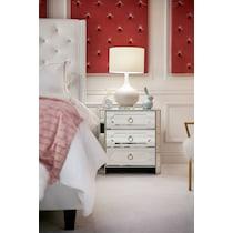 harlow mirrored nightstand