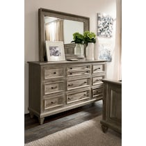 harrison gray dresser & mirror