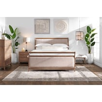 hazel light brown nightstand
